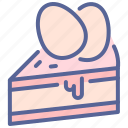 cake, easter, egg, pastry icon