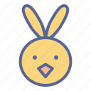 chicken, chickling, cute, easter icon