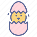 chicken, easter, egg, shell icon