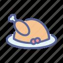 chicken, dinner, meal, turkey, hygge