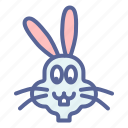 bunny, cute, easter, rabbit icon