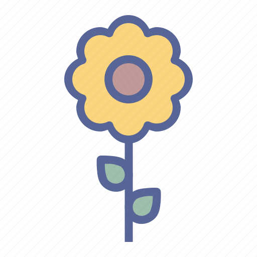 blossom, flower, spring, sunflower icon