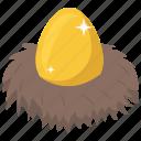 decorative egg, decorative eggshell, easter egg, golden egg, golden eggshell