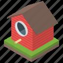 bird home, bird nest, birdhouse, habitat, nesting box, roosting place icon