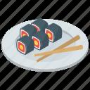 food, japanese food, salmon roll, sushi, vinegared rice