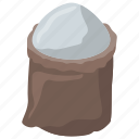 flour, flour bag, flour pack, flour sack, foodstuff icon