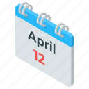 calendar, calendar date, daybook, monthly calendar, reminder, yearbook icon