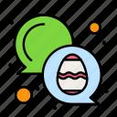 chat, color, easter, egg