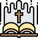bible, scripture, religious, text, book icon