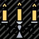 candelabra, lamp, holder, shining, light icon