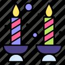 candles, light, flame, illumination, celebration