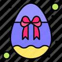 egg, gift, ribbon, easter, celebration