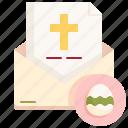 letter, envelope, greetings, easter, egg, communication