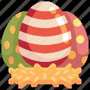 nest, easter, eggs, decoration, egg