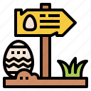 directional, easter day, panel, road, sign