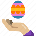 egg, hand, culture, easter, paint