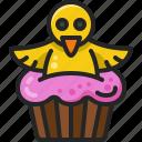cupcake, dessert, chick, sweet, easter, cake, pop