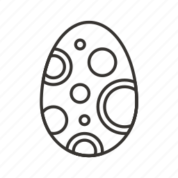 bubbles, decoration, easter, egg, holiday, spring icon