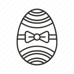 decoration, easter, egg, holiday, spring, tie icon