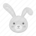 attribute, easter, head, holiday, rabbit icon