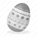 art, easter, egg, paint, painting, pattern icon