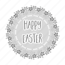 easter, happy, holiday, label, tag