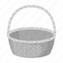 basket, easter, food, holiday icon