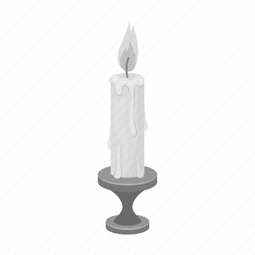 Candle, candlestick, fire, flame, light icon - Download on Iconfinder