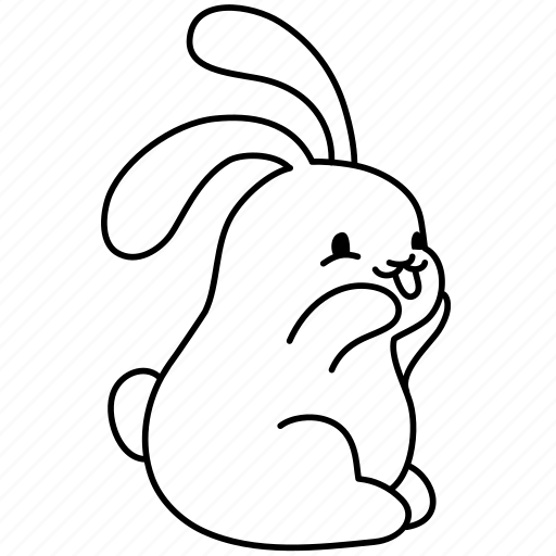 bunny, easter, giggle, laugh, rabbit, smile, snort icon
