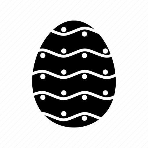 decorate, dots, easter, egg, hide, paint, stripes icon