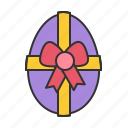 easter, egg, gift, spring icon