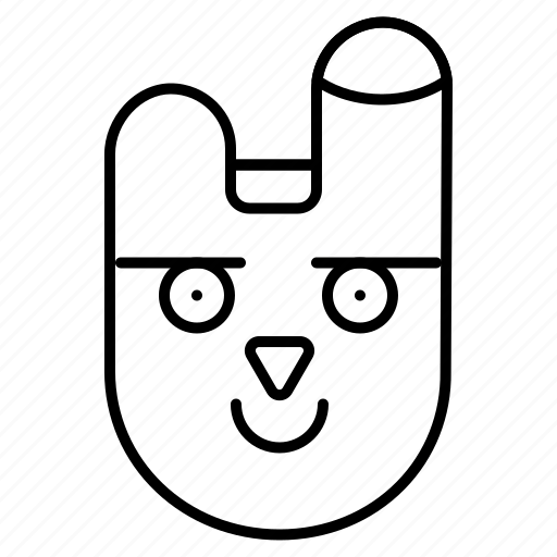 animal, bunnyface, rabbit icon