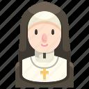 catholic, christian, job, nun, occupation, religious, woman