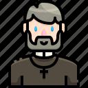 avatar, job, people, priest, profession, profile, user