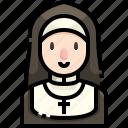 avatar, catholic, christian, job, nun, religious, woman