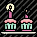 baked, bakery, birthday, cupcake, dessert, muffin, sweet