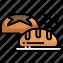 baked, bakery, bread, bun, buns, food, roll icon