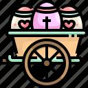 basket, cultures, decoration, easter, egg