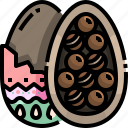 chocolate, decoration, easter, egg, food icon