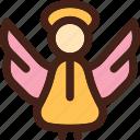 angel, religion, saint icon