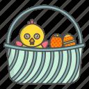 basket, chicken, church, cristian, easter, eggs, religion