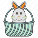 basket, church, cristian, easter, rabbit, religion, religious