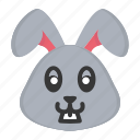 animal, bunny, cute, easter, easter day, face, rabbit icon