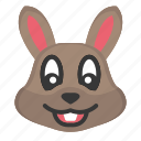 animal, bunny face, cute, easter, easter day, rabbit face icon