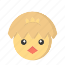 animal, chick, cute, easter, easter day, egg, face icon