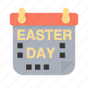 calender, easter, easter day, holiday icon