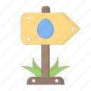 arrow, easter, easter day, egg, party, signpost