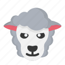 animal, easter, easter day, lamb, sheep, spring icon