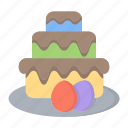 cake, dessert, easter, easter day, party icon