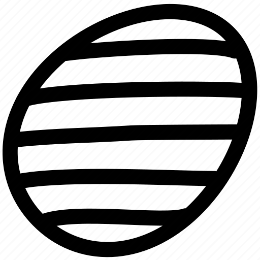decorative, easter, egg, line, parallel, pattern, stripe icon
